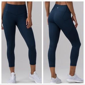 """Lululemon All The Right Places Crop II *23"""" Jaded"""